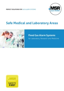 MSR-Electronic Gas alarm systems Laboratory Flyer A4 en cover