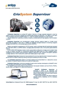 CrioSystem Supervisior pre eng Edition0617 cover
