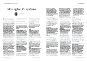 73 Business Series Moving to an ERP cover